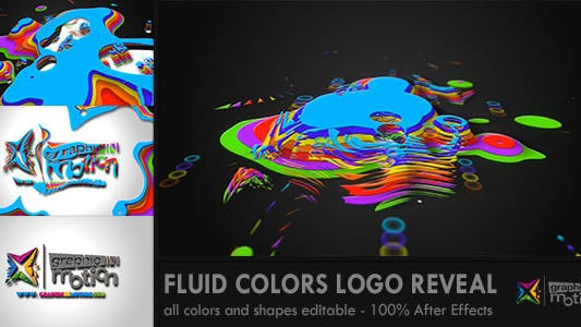 Thumbnail for Logo Fluid Colors Reveal