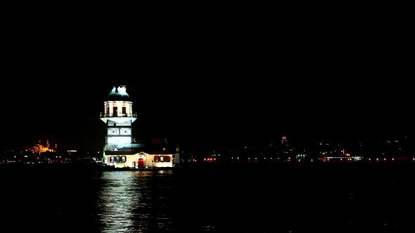 Thumbnail for Istanbul Maiden's Tower Night Time