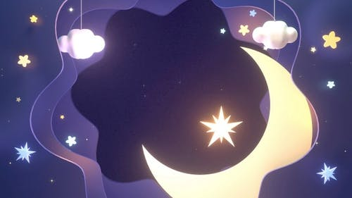 Paper Stars And Moon