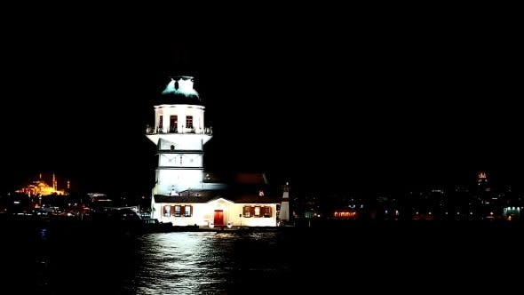 Thumbnail for Maiden's tower Night Time 2