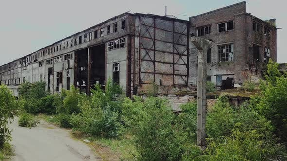 Destroyed Factory After the Bombing of the City
