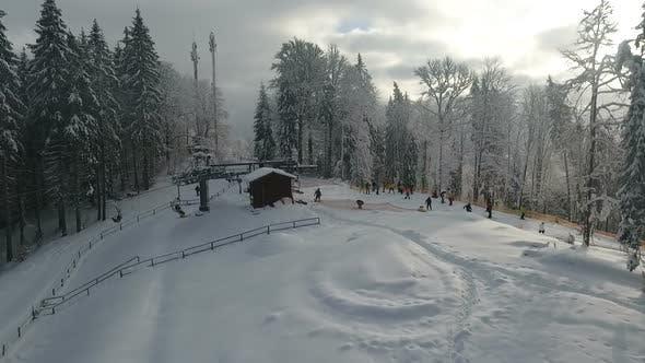 Winterskigebiet Alpin