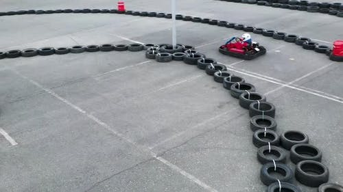 Unknown Pilots Competing In Karting Championship