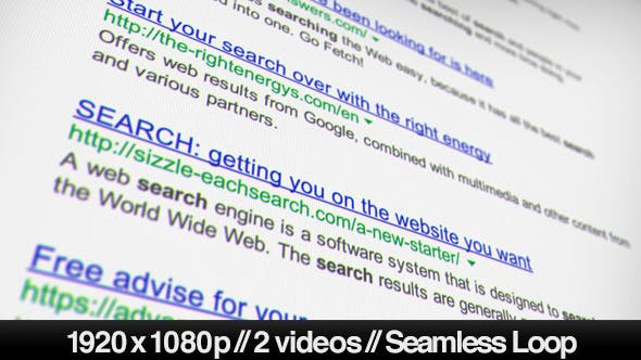 Internet Search Engine Results - 2 Looped Styles