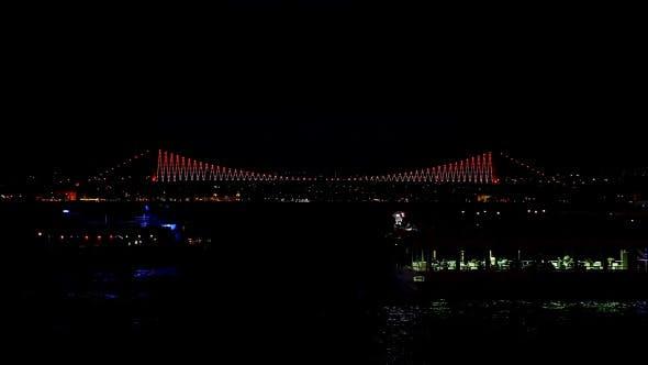 Thumbnail for Istanbul Bosphorus Bridge Night Time