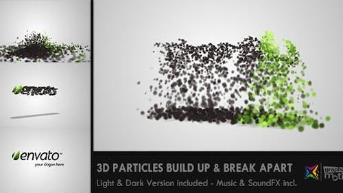 3D Particles Logo Build Up & Break Apart Intro