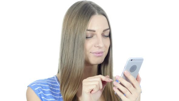 Thumbnail for Girl Using Smartphone for Browsing