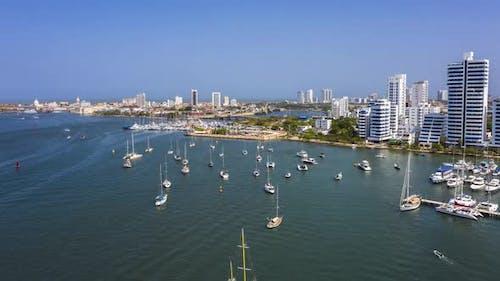 Old City in Cartagena From the Marina Bay