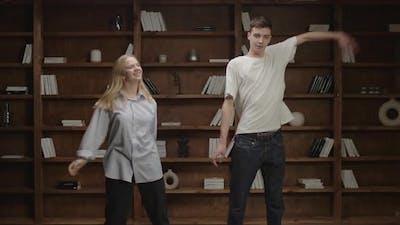 Millennials Dance Funny Dance at Living Room