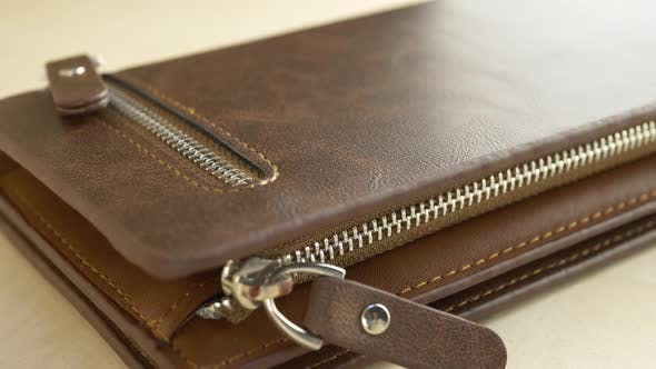 Thumbnail for Brown Leather Men's Wallet