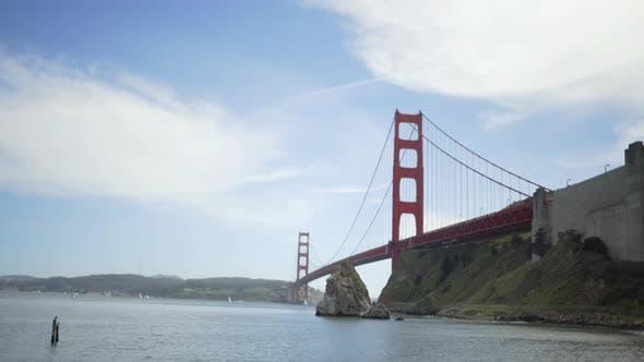 Thumbnail for San Francisco Golden Gate bridge as seen from beach
