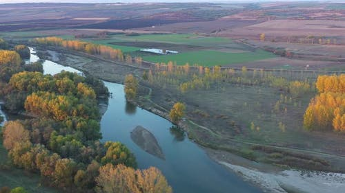 Flight Over Maritsa River In Bulgaria In Autumn Season 3