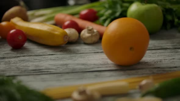 Thumbnail for Fruits Rolling on Table Surface