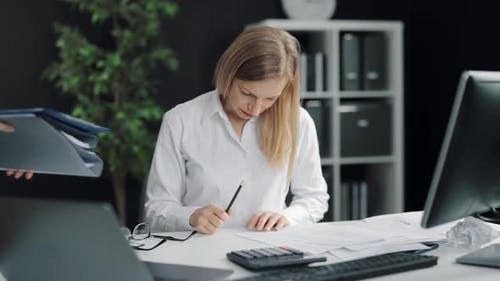 Woman Having Overload at Work