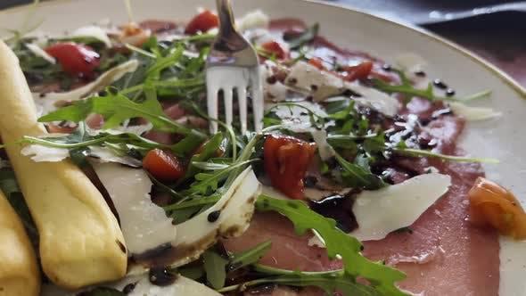 Köstliche Vorspeise im italienischen Restaurant