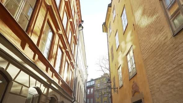 Thumbnail for Apartment Building Streets in Stockholm Area. Scandinavian Facades of Old Town