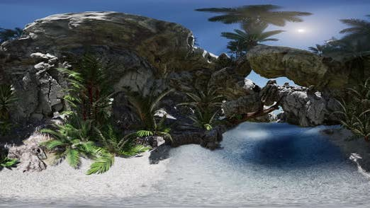 Thumbnail for VR 360 Cave Paradise Blue Sea and Sky – Paradise on Beach Tropical Island