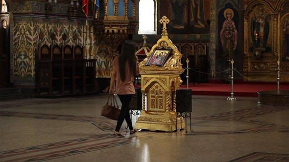 Thumbnail for Girl Worshiping in Orthodox Church