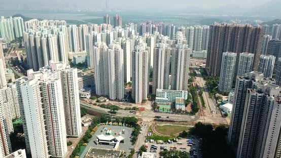 Thumbnail for Top view of cityscape of Hong Kong