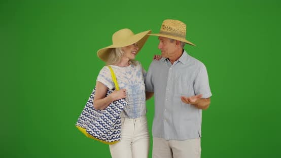 Thumbnail for Newly retired senior couple enjoying their time off on green screen