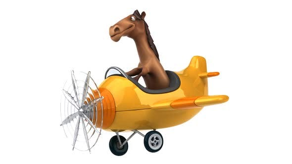 Thumbnail for Fun horse on a plane