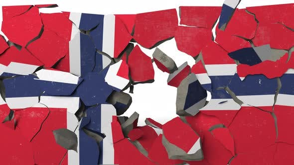 Thumbnail for Destroying Wall with Painted Flag of Norway