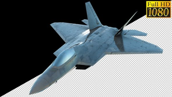 Thumbnail for Combat Jet Fighter On Alpha Channel Loops V3