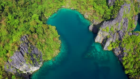 Thumbnail for Fly Around the Rocky Mountains with Beautiful Lagoons and Turquoise Sea in El Nido, Palawan