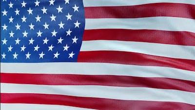 United States Flag Loop Close Up