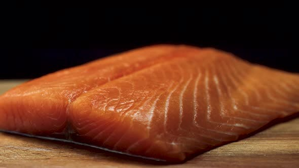 Thumbnail for Close Up Of Juicy Piece Of Salmon