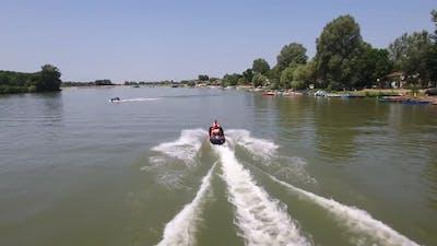 Jet Ski On A River