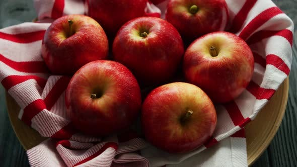 Thumbnail for Fresh Apples on Napkin