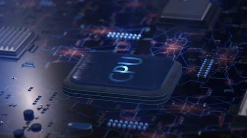 Motherboard CPU Circuits 4k