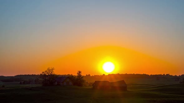 Thumbnail for Sunset and rural landscape