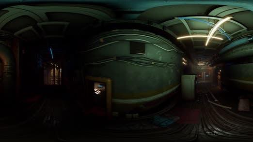 Ein langer Korridor mit vielen offenen Türen eines verlorenen Ortes