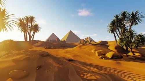 Mausoleums And Obelisks In The Desert