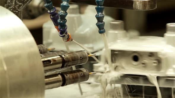 Thumbnail for High Pressure Water Jet CNC Cutting Machine in Factory.