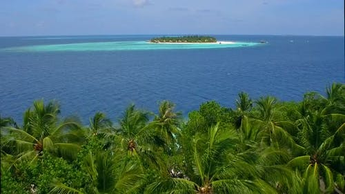 Details of a scenic tropical island beach in the Maldives.