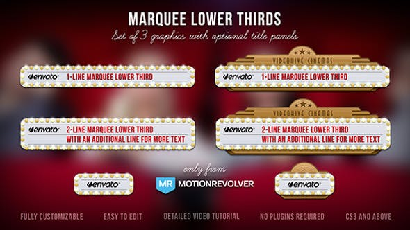 Thumbnail for Marquee Lights Lower Thirds