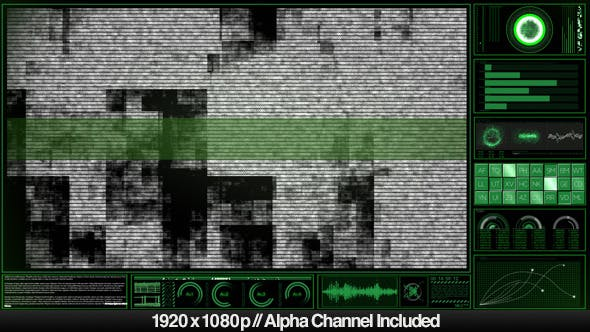 Thumbnail for High Tech HUD Video Monitor Display Alpha Overlay