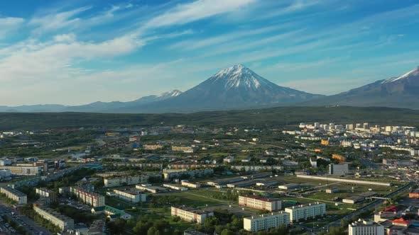 Petropavlovsk-Kamchatsky City at Sunset