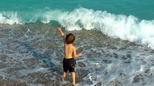 Thumbnail for Boy Throwing Stones into the Sea
