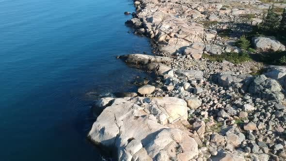 Thumbnail for Aerial Drone Reveal Shot of A Rocky Ocean Coast