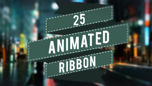 Thumbnail for 25 Animated Ribbons