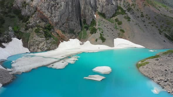 Thumbnail for Atmospheric Alpine Landscape To Beautiful Glacial Lake in Highland Valley. Aerial View
