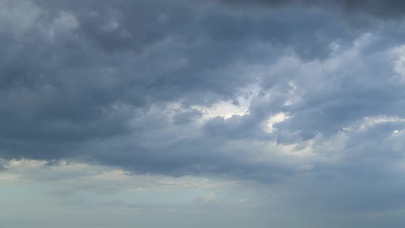 Thumbnail for Thundercloud Moves Across a Cloudy Sky