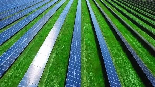 Photovoltaik-Module in Solarbetriebsstation