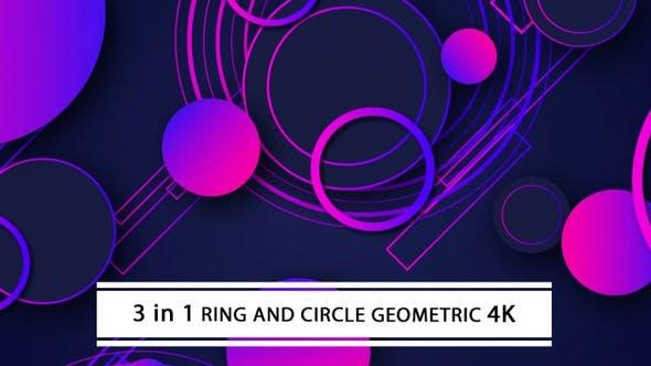 Thumbnail for Ring And Circle Geometric 4K