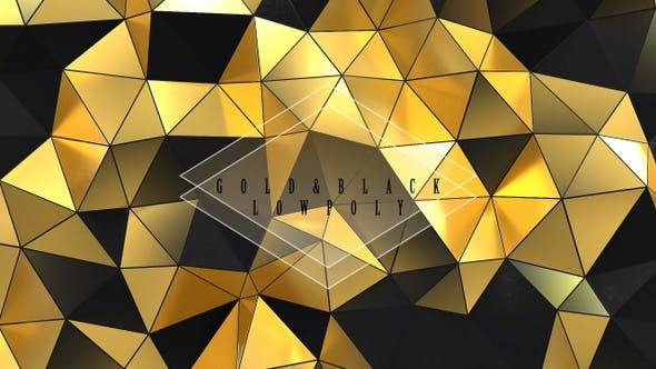 Thumbnail for Gold And Black Low Poly