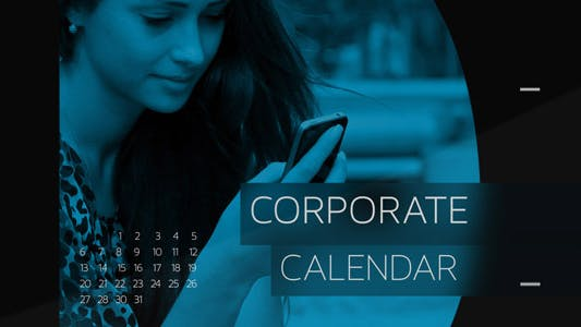 Thumbnail for Corporate Calendar Timeline